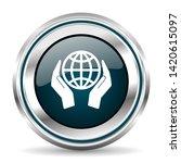 vector icon. chrome border...   Shutterstock .eps vector #1420615097