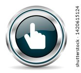 cursor hand vector icon. chrome ...   Shutterstock .eps vector #1420615124