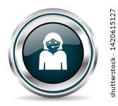 call center vector icon. chrome ...   Shutterstock .eps vector #1420615127