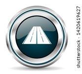 road vector icon. chrome border ...   Shutterstock .eps vector #1420619627