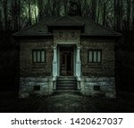 Old Creepy Haunted House With...
