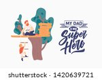 father's day poster template... | Shutterstock .eps vector #1420639721