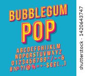 bubblegum pop vintage 3d vector ... | Shutterstock .eps vector #1420643747