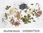 Various Seeds On White...