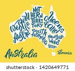 silhouette of the map of... | Shutterstock .eps vector #1420649771