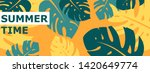 colorful summer banner with... | Shutterstock .eps vector #1420649774