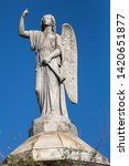 Statue Of Angel With Trumpet At ...
