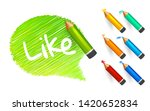 banner paint with pencils. hand ... | Shutterstock .eps vector #1420652834