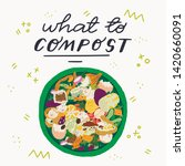 what to compost hand drawn...   Shutterstock .eps vector #1420660091