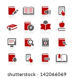 book icons    redico series | Shutterstock .eps vector #142066069