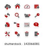 ftp   hosting icons    redico... | Shutterstock .eps vector #142066081