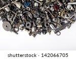 metal waste and scrap  metal...   Shutterstock . vector #142066705