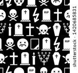 death pattern seamless.... | Shutterstock .eps vector #1420685831