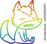 rainbow gradient line drawing... | Shutterstock .eps vector #1420690397