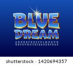 vector stylish card blue dream... | Shutterstock .eps vector #1420694357
