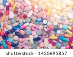 high number of pills on white...   Shutterstock . vector #1420695857