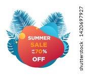 summer abstract sale banner ... | Shutterstock .eps vector #1420697927