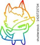 rainbow gradient line drawing... | Shutterstock .eps vector #1420725734
