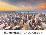 Chicago  Illinois Usa Aerial...
