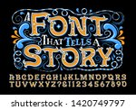a sweet and fun alphabet that... | Shutterstock .eps vector #1420749797