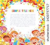 promotional poster or banner... | Shutterstock .eps vector #1420757717