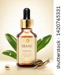 snail extract cosmetic ads.... | Shutterstock .eps vector #1420765331
