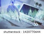 financial forex graph drawn... | Shutterstock . vector #1420770644