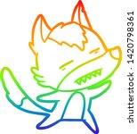 rainbow gradient line drawing... | Shutterstock .eps vector #1420798361