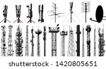 tower radio antenna silhouettes ... | Shutterstock .eps vector #1420805651