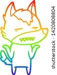 rainbow gradient line drawing... | Shutterstock .eps vector #1420808804