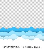 blue and white sky clouds... | Shutterstock .eps vector #1420821611
