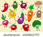 a fun collection of cartoon... | Shutterstock .eps vector #1420822757
