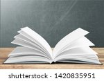 Open Book Isolated On White An...
