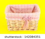 wicket basket with pink fabric... | Shutterstock . vector #142084351