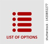filled list of options icon.... | Shutterstock .eps vector #1420852277