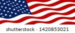 american flag on white... | Shutterstock .eps vector #1420853021