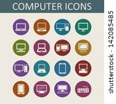laptops and computers icons | Shutterstock .eps vector #142085485
