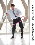 business man loosening up with...   Shutterstock . vector #142085755
