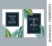 wedding invitation card... | Shutterstock . vector #1420865201