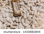 handmade gnocchi  on the table. | Shutterstock . vector #1420882844