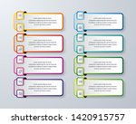 infographic design with 8...   Shutterstock .eps vector #1420915757