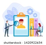 office workers businessman...   Shutterstock .eps vector #1420922654