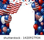 usa 4th of july independence... | Shutterstock .eps vector #1420927934