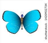 beautiful butterflies  blue... | Shutterstock .eps vector #1420932734