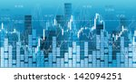 financial market charts  quotes ... | Shutterstock .eps vector #142094251