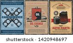 car service center vintage...   Shutterstock .eps vector #1420948697