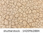 Brown Dry Soil Or Desert...