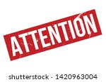 attention rubber stamp. red... | Shutterstock .eps vector #1420963004