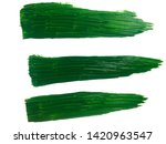 green paint brush strokes on... | Shutterstock . vector #1420963547