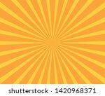Grunge Sunburst Orange Abstrac...